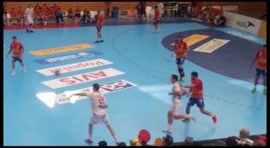 La selección española de balonmano no defraudó en Almoradí