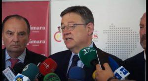 El Presidente de la Generalitat preside en Orihuela la reunión del Consejo de Cámaras de Comercio
