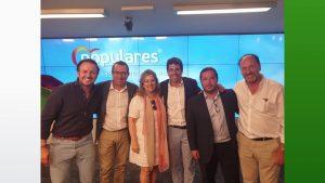 El PP Provincia de Alicante refuerza su presencia en la dirección nacional