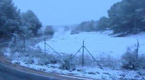 Día histórico de nieve en la Vega Baja