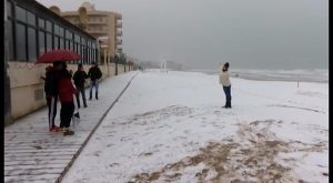 Remite un temporal histórico. La nieve a nivel del mar ha sido, sin duda, lo más destacado