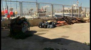 Continua acumulándose basura en el puerto pesquero de Torrevieja ante la pasividad de Generalitat