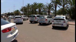 El sector del taxi en Torrevieja se une a la protesta contra la proliferación de licencias VTC