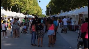 Vecinos y turistas disfrutaron en la feria de asociaciones y comercios de Pilar de la Horadada