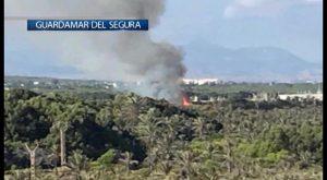 Nuevo incendio en la pinada de Guardamar y ya es el quinto
