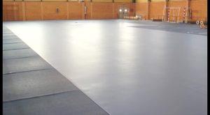 Comienzan las obras de instalación del nuevo pavimento en el Pabellón Deportivo de Bigastro