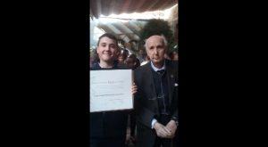 Un alumno de «El Campico» de Jacarilla, Medalla de Honor del Consell Valencià de Cultura