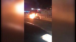 Un incendio calcina un vehículo estacionado en el Polígono Empresarial de Torrevieja