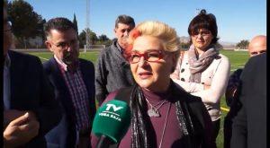 La Diputación recepciona las obras del campo de fútbol de Jacarilla con una inversión de 281.500 euros