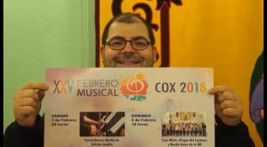 Febrero Musical de Cox celebra sus Bodas de Plata
