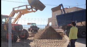 Guardamar regenera sus playas con arena procedente de una antigua duna