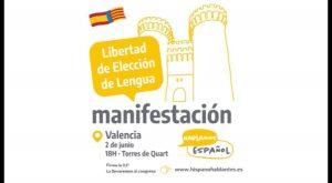 Todo preparado para la manifestación por la Libertad de Elección de Lengua