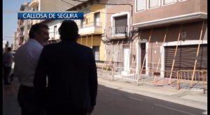 La Diputación cubrirá las obras de la calle Salitre de Callosa con una ayuda de 412.500 euros