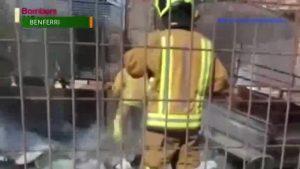 Sofocan un incendio en Benferri que amenazaba con alcanzar una vivienda