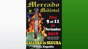Mercadillo Medieval en Callosa de Segura del 9 al 11 de noviembre