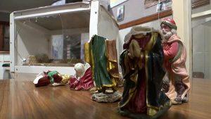 Destrozos en el Belén del Centro excursionista de Callosa