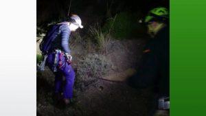 Rescatados tres escaladores en la pared negra de Orihuela