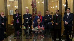 Recepción institucional a los diplomáticos árabes en Orihuela