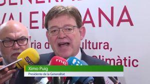 """Ximo Puig, sobre el trasvase Tajo-Segura: """"Se garantiza la seguridad para esta temporada"""""""