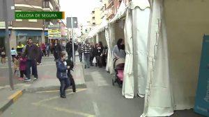 El comercio callosino saca sus productos a la calle