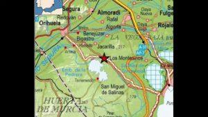 Un terremoto de magnitud 1.9 con epicentro en Jacarilla se deja notar levemente en la Vega Baja