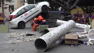 Un gran despliegue de emergencias conmemora en Almoradí el terremoto de 1829