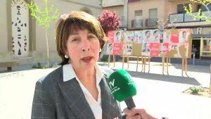 Vallas electorales en Rafal con carteles del PSOE ya pegados
