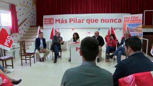 Último acto de precampaña del PSOE pilareño