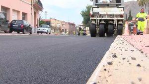 Renovación de asfaltado en Callosa