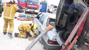 Bomberos de Orihuela participan en el XV Encuentro Nacional de Rescate en Accidentes de Tráfico
