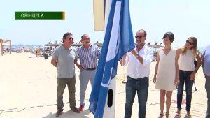 Las banderas azules ya ondean en las playas de Orihuela Costa