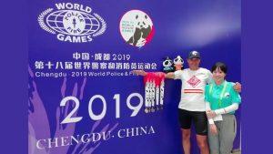 Un Bombero de Almoradí consigue cinco medallas en los juegos mundiales para Policías y Bomberos