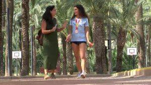 La atleta oriolana Carmen Marco consigue una medalla de bronce en 100 metros lisos