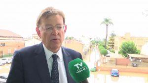 Ximo Puig cifra el impacto económico por el temporal en 1.500 millones de euros