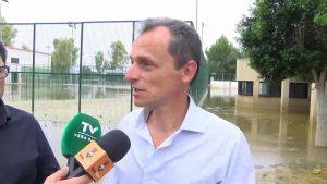 El ministro Pedro Duque visita Dolores y Orihuela tras el episodio de gota fría