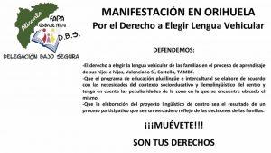 Manifestación para el 18 de enero por el derecho a elegir la lengua vehicular
