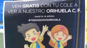 #TodosSomosOrihuela, el lema para fomentar que los más jóvenes acompañen al Orihuela CF