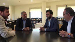 El Ayuntamiento de Orihuela se reúne con la UMH para impulsar la colaboración entre ambos