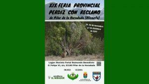 Se celebra la XIX Feria Provincial de la Perdiz con Reclamo en Pilar de la Horadada