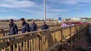 Inaugurada la pasarela peatonal sobre la N-332 en Pilar de la Horadada