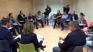 Nueve alcaldes de la Vega Baja reunidos por el plurilingüismo