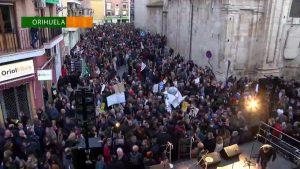 Más de 17.000 manifestantes en Orihuela en contra de la Ley del Plurilingüismo