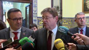 Ximo Puig continúa defendiendo la Ley de Plurilingüismo a pesar de la manifestación