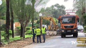 Se inician las obras en la Avenida Los Pinos de Guardamar