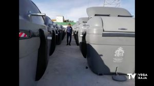 Orihuela empieza a recibir los nuevos contenedores de RSU