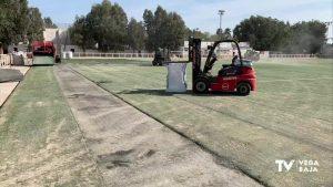 El campo de fútbol de Dolores luce nueva imagen