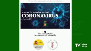 Orihuela estrena una página web con toda la información sobre el coronavirus