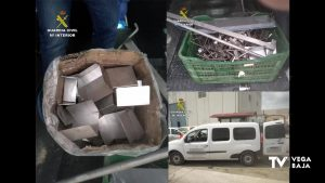 La Guardia Civil recupera materiales metálicos de una granja porcina