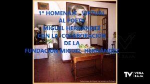 Realizado el primer homenaje virtual al poeta oriolano Miguel Hernández
