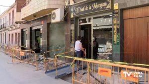 El centro urbano comercial de Almoradí sigue con obras de acondicionamiento